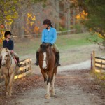 teaching children to ride horses
